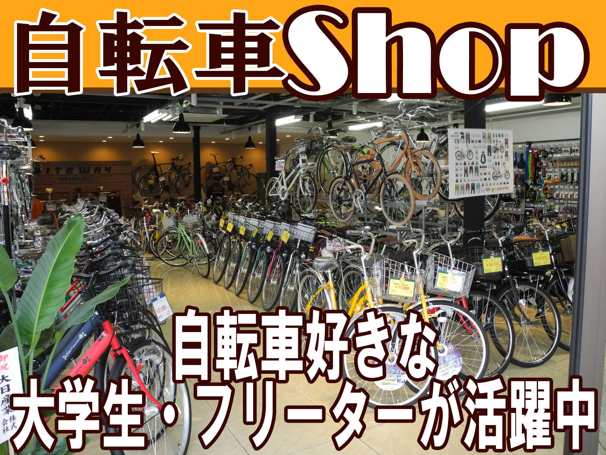 自転車のきゅうべえ 二条店 のアルバイト情報