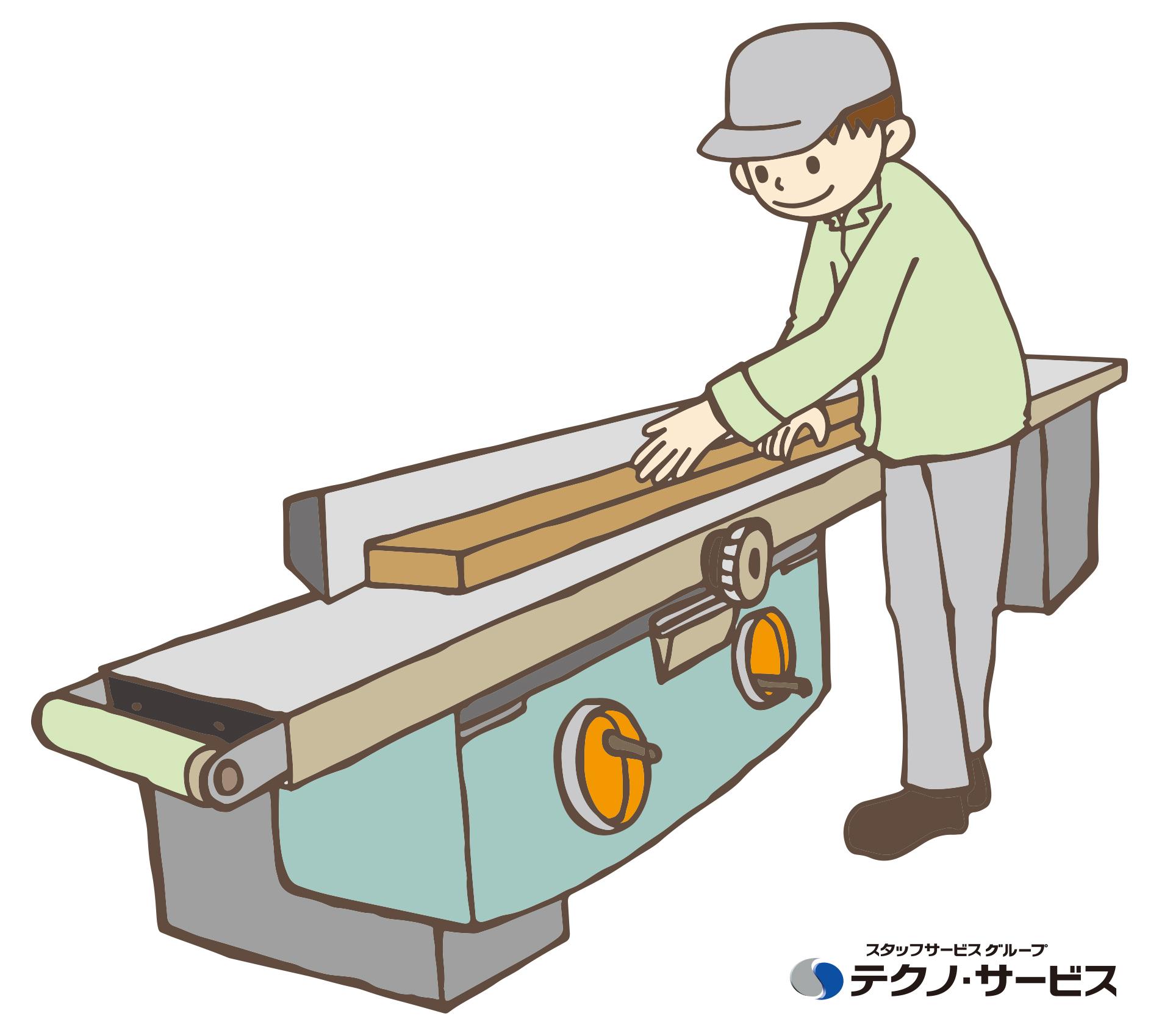 """工場での軽作業、未経験OKの""""テクノ・サービス""""のアルバイト情報"""